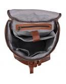 Фотография Коричневая мужская вместительная сумка - рюкзак 2006B