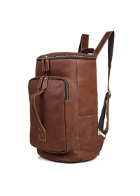 Коричневая мужская вместительная сумка - рюкзак 2006B