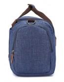 Фотография Текстильная мужская синяя дорожная сумка Vintage 20075
