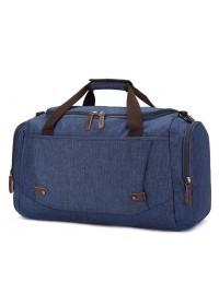 Текстильная мужская синяя дорожная сумка Vintage 20075
