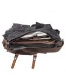 Фотография Черная мужская текстильная сумка на плечо Vintage 20076