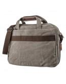 Фотография Серая сумка для ноутбука тканевая Vintage 20087