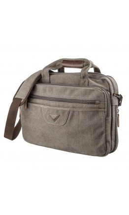 Серая сумка для ноутбука тканевая Vintage 20087