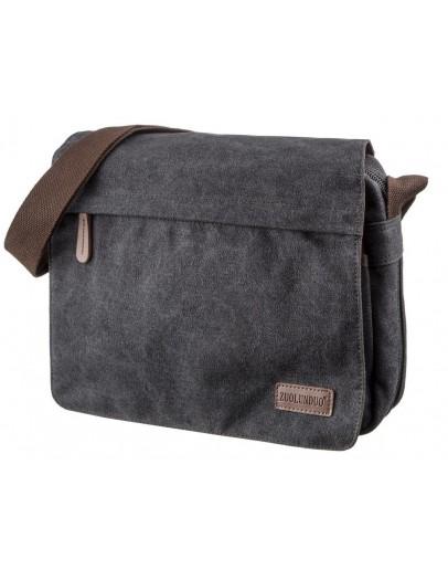 Фотография Текстильная мужская черная сумка на плечо Vintage 20088