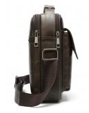 Фотография Кожаная сумка - барсетка коричневая кожаная Vintage 20095