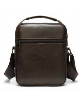 Кожаная сумка - барсетка коричневая кожаная Vintage 20095