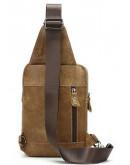 Фотография Светло-коричневый кожаный мужской слинг Vintage 20096