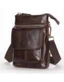 Фотография Мужская небольшая сумка кожаная Vintage 20097