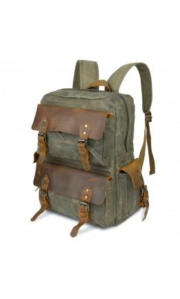 Рюкзак зеленый вместительный Vintage 20107
