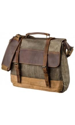 Тканевый портфель серого цвета Vintage 20117