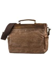 Коричневый мужской тканево-кожаный портфель Vintage 20119