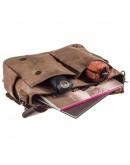 Фотография Коричневый мужской тканево-кожаный портфель Vintage 20119