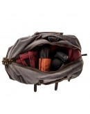 Фотография Вместительная дорожная текстильная серая сумка Vintage 20131