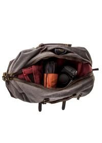Вместительная дорожная текстильная серая сумка Vintage 20131