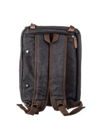 Черная тканевая сумка - трансформер Vintage 20144