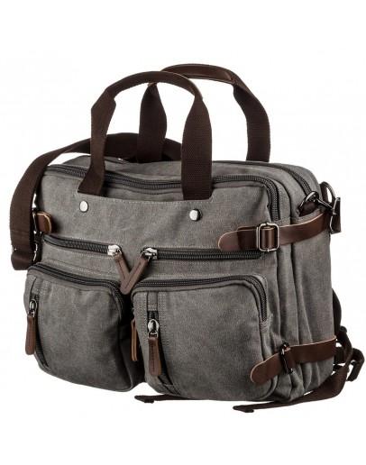 Фотография Серая тканевая сумка - трансформер Vintage 20145