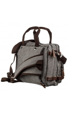 Серая тканевая сумка - трансформер Vintage 20145