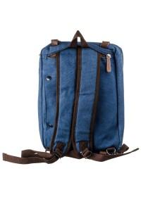Синяя текстильная мужская сумка - траснформер Vintage 20147