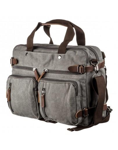 Фотография Большая серая тканевая сумка - трансформер Vintage 20151