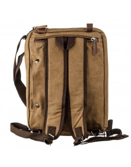 Тестильная сумка-трансофрмер песочного цвета Vintage 20152