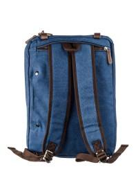Большая текстильная синяя сумка - трансформер Vintage 20153