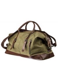 Тканевая сумка для командировок цвета хаки Vintage 20167