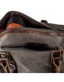 Фотография Серая текстильная мужская сумка Vintage 20169