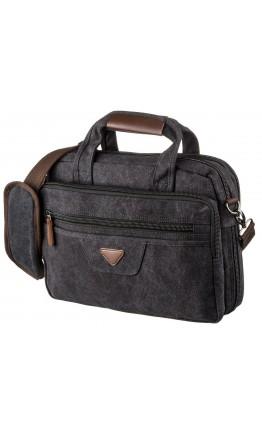 Черная тканевая сумка для ноутбука 15.6 на 2 отделения Vintage 20177