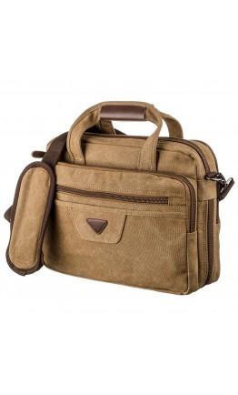 Тканевая мужская сумка для ноутбука на 2 отделения Vintage 20178