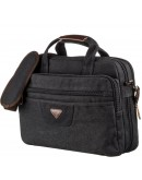 Фотография Черная большая тканевая сумка для ноутбука Vintage 20182
