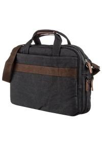 Черная большая тканевая сумка для ноутбука Vintage 20182