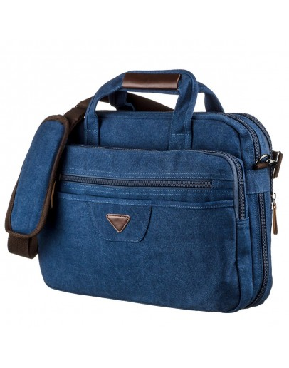 Фотография Синяя большая тканевая сумка для ноутбука Vintage 20184