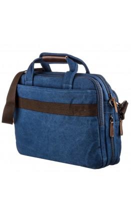 Синяя большая тканевая сумка для ноутбука Vintage 20184