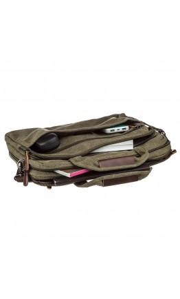 Зеленая мужская текстильная сумка для ноутбука Vintage 20185