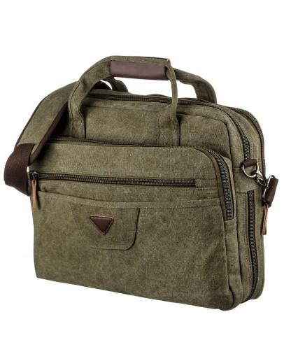 Фотография Зеленая мужская текстильная сумка для ноутбука Vintage 20185