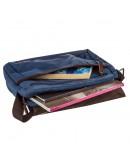Фотография Мужская синяя текстильная сумка через плечо Vintage 20189