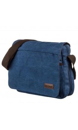 Мужская синяя текстильная сумка через плечо Vintage 20189