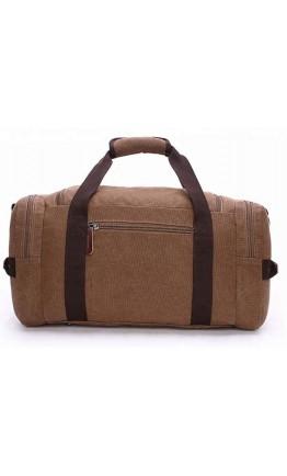 Коричневая текстильная сумка дорожная Vintage 20193