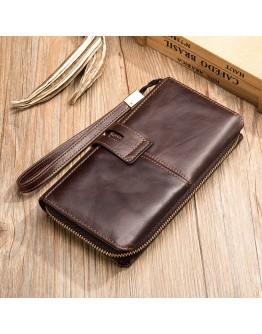 Клатч мужской коричневый кожаный Vintage 20236