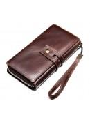 Фотография Клатч мужской коричневый кожаный Vintage 20236