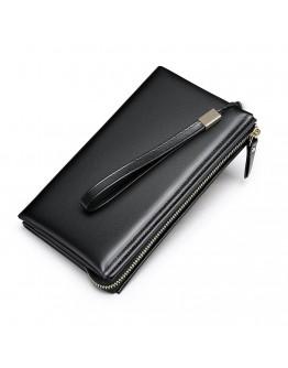 Черный мужской клатч кожаный Vintage 20237