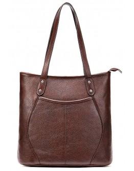 Кожаная женская коричнвая сумка Vintage 20243