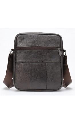 Кожаный мужской коричневый мессенджер Vintage 20346