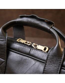 Черная кожаная сумка для ноутбука Vintage 20390