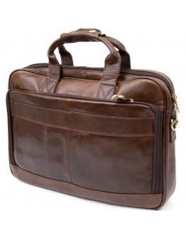 Коричневая кожаная сумка для ноутбука Vintage 20391