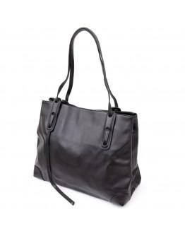 Кожаная женская черная сумка Vintage 20400