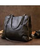 Фотография Кожаная женская черная сумка Vintage 20400