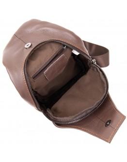 Коричневый мужской удобный кожаный слинг Vintage 20402