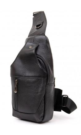 Сумка на плечо кожаный черный слинг Vintage 20403