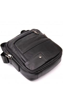 Кожаная черная сумка - барсетка Vintage 20426